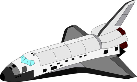 vector space shuttle isolated on white background Vector