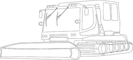snowcat: vector - snowcat isolated on background