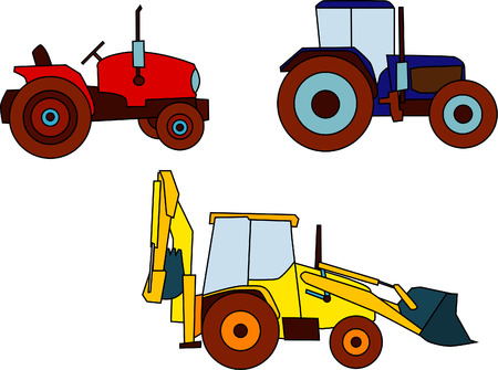 vector - set of various tractors Stock Vector - 4984253