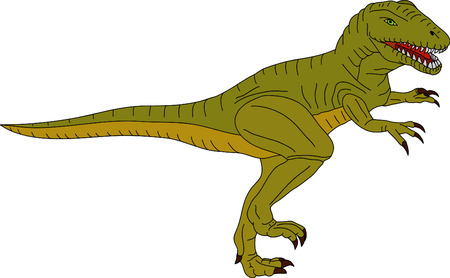 vector -  color t-rex isolated on background Vector