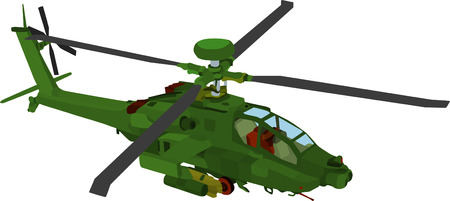 cartoon soldat: Vektor - AH 64 LB Farbe
