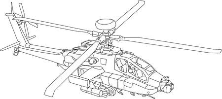 vector - AH 64 LB contour Stock Vector - 5053539