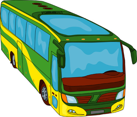 isoleted: vector - color bus isoleted on background
