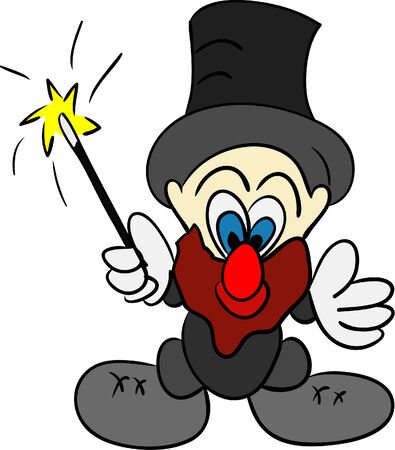 vector - funny magician isolated on background Vector