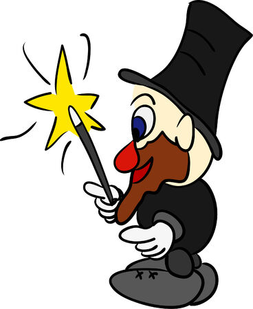 vector - funny magician isolated on background Stock Vector - 5458866