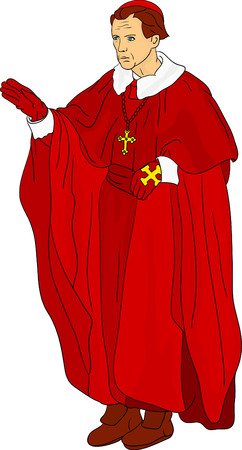 vector - Priest Cardinal isolated on background Vector