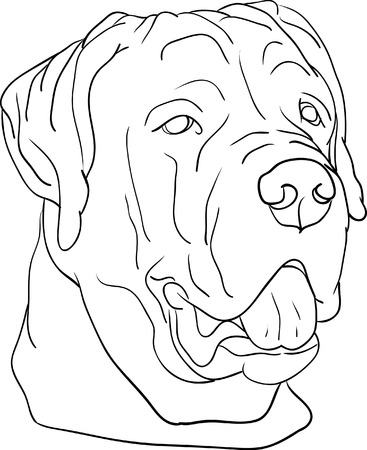 dog head isolated on background royalty free cliparts, vectors