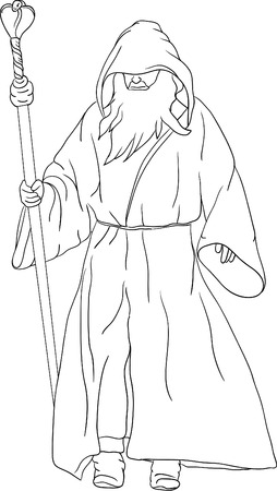 druid isolated on background Vector