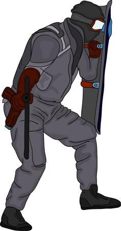 Vektor - SWAT auf background