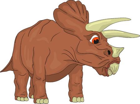 vector - dinosaur triceraptor isolated on background Vector Illustration