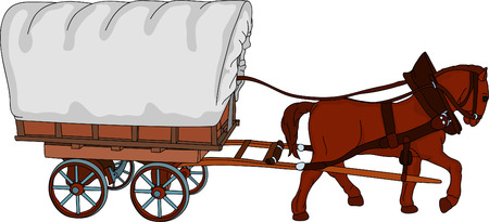 old horse: horse cart, the sheet is a place for your text