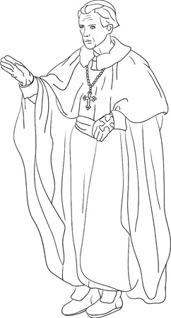 Priest Cardinal isolated on background Vector
