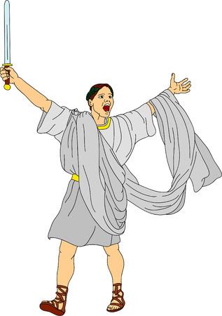 the victous Roman gladiator Stock Vector - 6439458