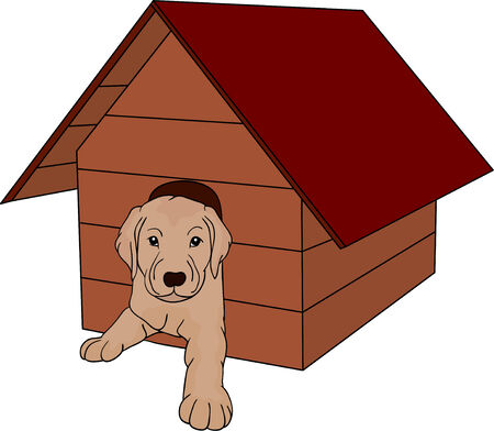 doghouse: vector - house dog isolated on background Illustration