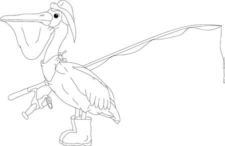 pelican bird like fish hunter Stock Vector - 6596681
