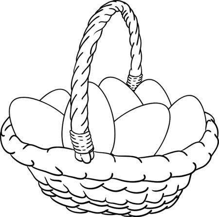 vector - basket of Easter eggs Vector