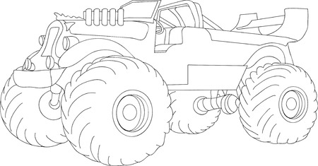 monster truck isolated on background Vector