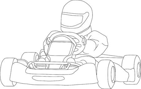carting: vector - ir kart aislado en segundo plano