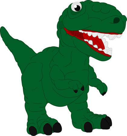 a small dinosaur isolated on background Stock Vector - 6813706