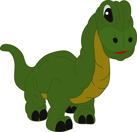 jurassic:  a small dinosaur isolated on background