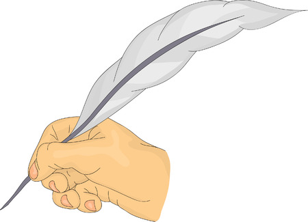 hand with a quill