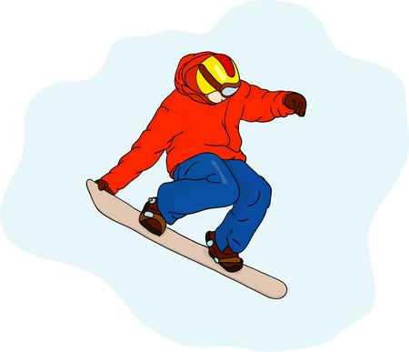 snowboarder: snowboarder on blue background