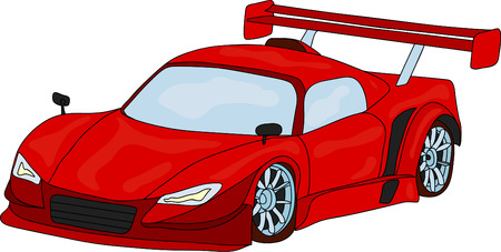 sport car isolated on background