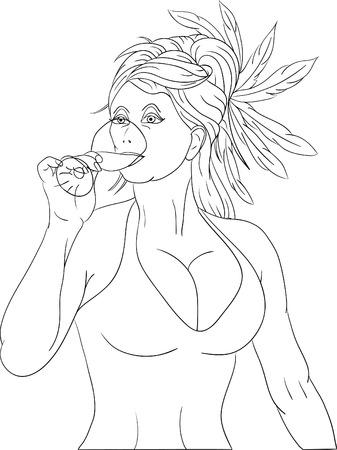 mujer feliz fondo blanco: hermosa mujer en una fiesta