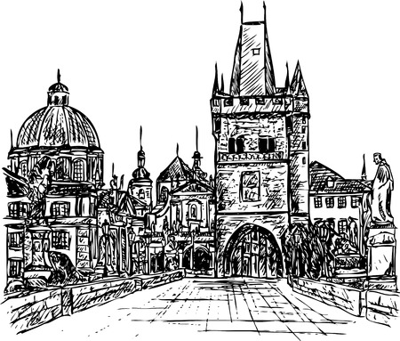 Tsjechië Praag, charles bridge