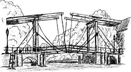 magere brug hand draw, isolated on background