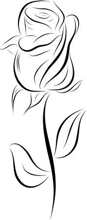 abstract steeg contour, hand tekenen