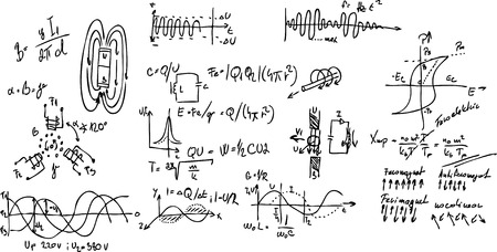 physics: vector - mathematical physics - the formulas and graphs - electricity, magnetism