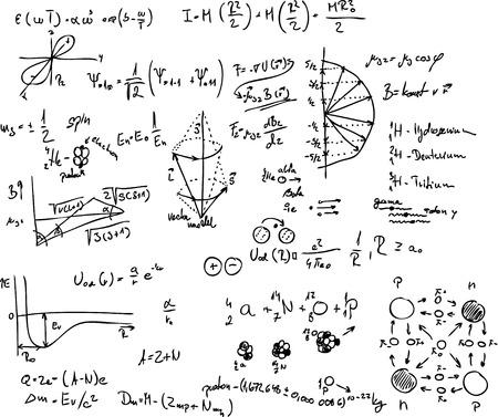 vector - atoom, quantum physics, molecuul, waterstof,  Stock Illustratie