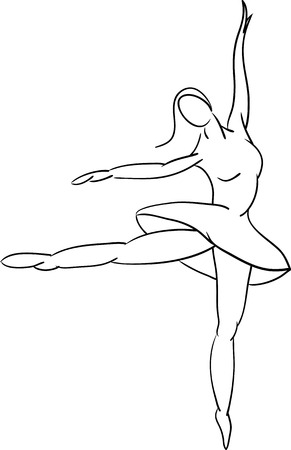 abstract Ballet dancer , isolated on background Vector