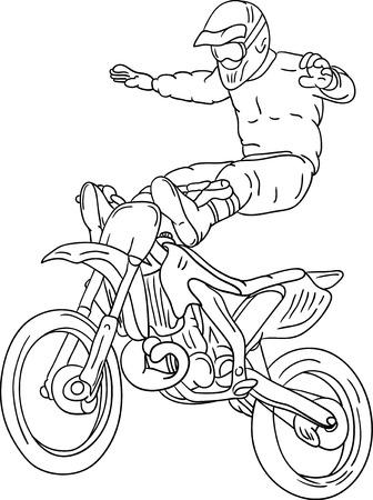 motorbike freestyle isolated on background Vector