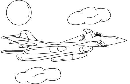 vector - battle jet plane isolate on background Stock Vector - 8276202