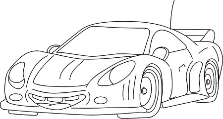 happy sport car isolated on background Vector
