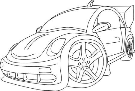 cartoon like new VW Beetle tuning
