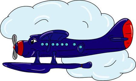 hydroplane: happy hydroplane Illustration