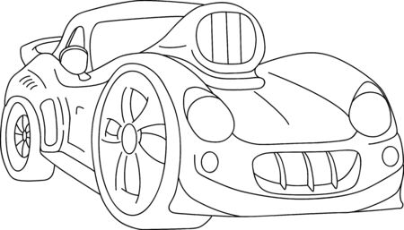 sport car tuning isolated on background Vector