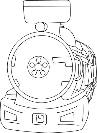 old steam Locomotive isolated on background Vector