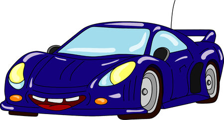 car tuning: vector  - car tuning isolated on background Illustration