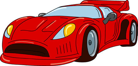 red sports car: vector - sport car tuning isolated on background