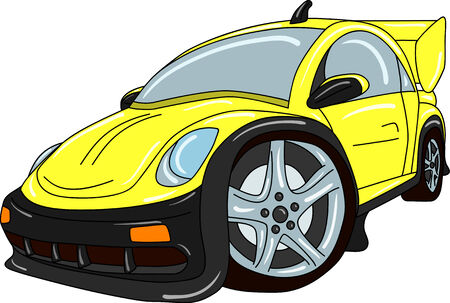 car tuning isolated on background Vector
