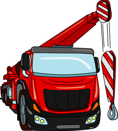 truck mobile crane isolated on background