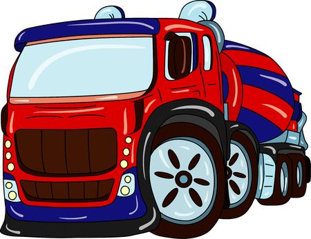 agitation: agitation truck tuning isolated on background Illustration