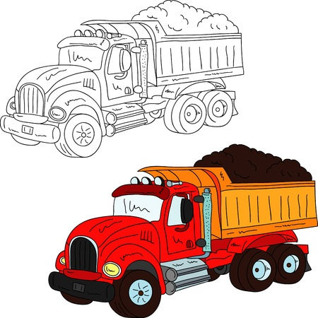 vector - big truck   isolated on white background Illustration