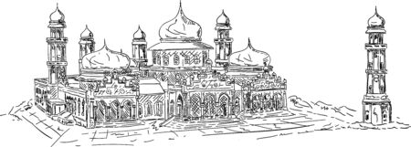 vector - banda aceh mosque, isolated on background Vector