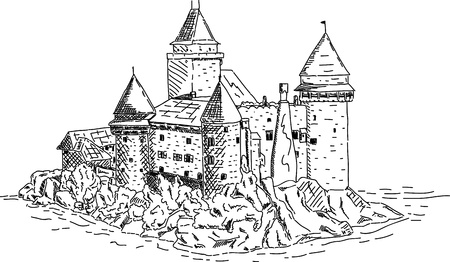 The castle of Heidenreichstein, Waldviertel, Lower Austria  Vector