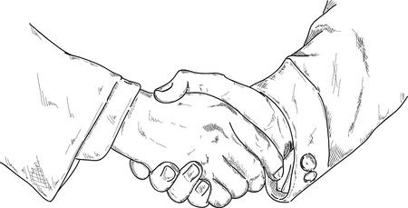 hold hand: vettore - shake Arms, isolato su sfondo Vettoriali